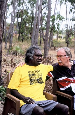 George talks with Mandaway Yunupingu